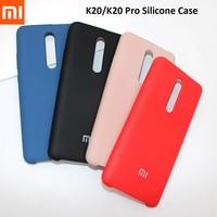 Xiaomi-funda con acabado suave y sedoso para Xiaomi Mi Redmi K20 Pro, cubierta protectora de silicona líquida trasera para Mi 9t Redmi K20 Pro, 6,39