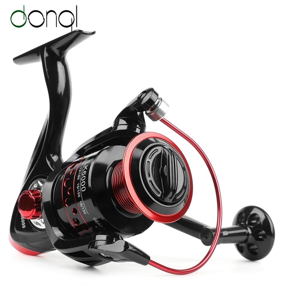 DONQL Spinning Fishing Reel 13 Ball Bearing Fishing Coil Left/Right Hand Wheels Carp Fishing Tackle 2000 7000 Series Fishing Reels     - title=