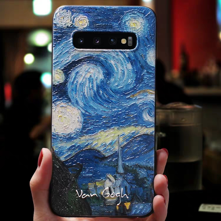 3D Art Case For Samsung Galaxy Note8 Note9 Note10 Case Shockproof Cover Black Case Soft Phone Cover For Samsung Note 10Plus Case