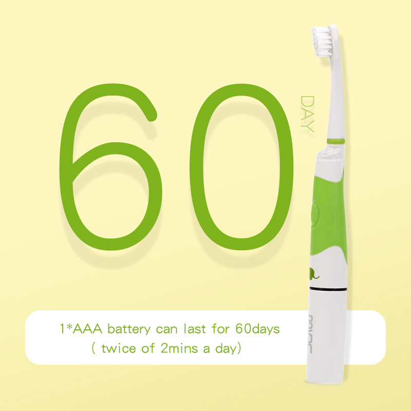 Seago Electric Toothbrush For Children Battery LED Kids Sonic Tooth brush Waterproof Smart Timer Replacement Brush Heads
