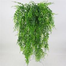 Plantes de vigne artificielles suspendues au mur, feuilles de rotin, Branches, décoration de jardin extérieur, maison, fausse feuille de soie en plastique, plante verte de lierre