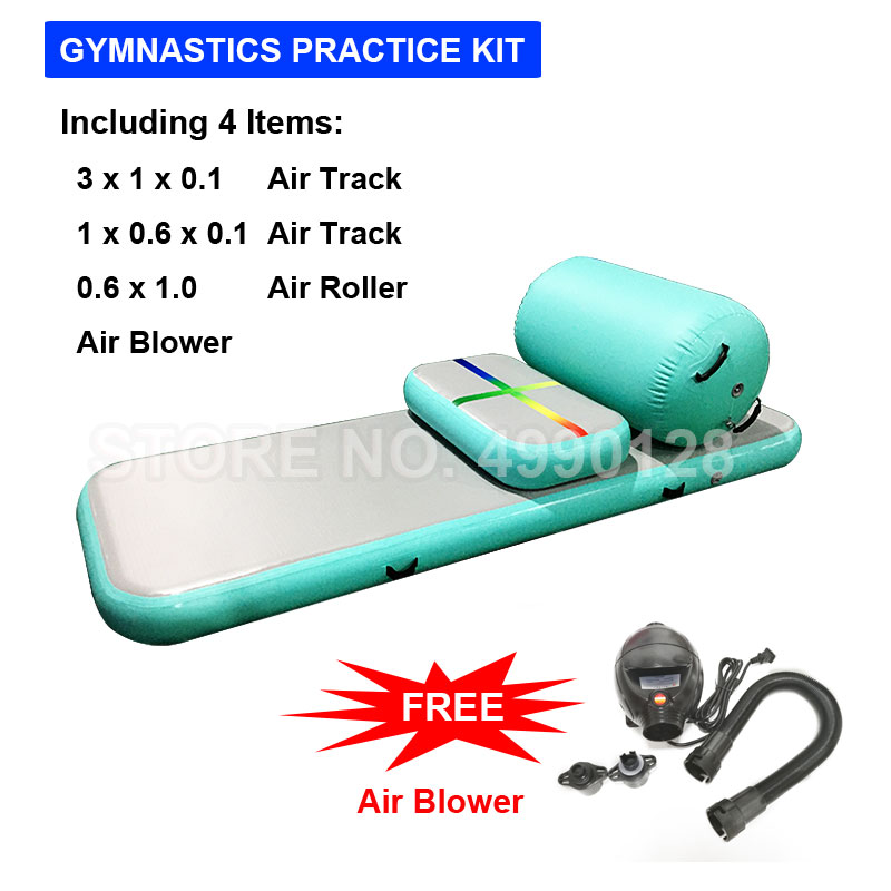Free Shipping Airtrack Set Inflatable Gymnastic Mattress Gym Tumble Air Track Floor Tumbling Air Track Mat Yoga Exercise Kit