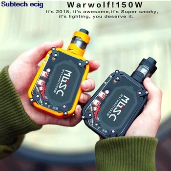 Warwolf 150W Box Mod kit 3200mah cool flashing light dazzle colour huge vapor third gear pressure regulating e cigarette vape original ehpro 2 in 1 fusion 150w tc kit max 150w w fusion mod