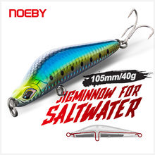 NOEBY Sinking Pencil Fishing Lure 105mm 40g Long Casting Jig Lures Trembling Jerkbaits Artificial Hard Bait for Sea Fishing Lure
