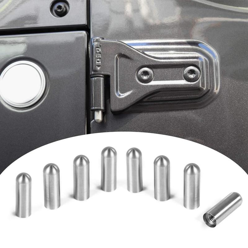 NEW-Car Door Hinge Pin Bolts Guides Liners For 1997-2018 Jeep Wrangler TJ JK JL Car Accessories 4 Door 8PCS