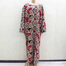 Tissu en coton imprimé rouge pour femmes, Design de mode africaine à manches longues, col rond, collection 2020, collection nouveauté