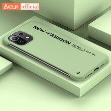Custodia rigida per PC senza cornice per Xiaomi Mi 11 Lite 10 Pro 9 SE Ultra A3 Cover posteriore opaca di lusso per Redmi Note 9T 9 8 Pro custodia