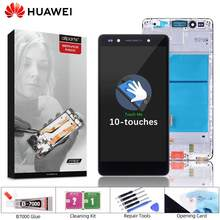 Original LCD For Huawei Honor 7 Screen Assembly with Frame Digitizer For Honor 7 PLK-L01 LCD Display Touch Screen Replacement(China)
