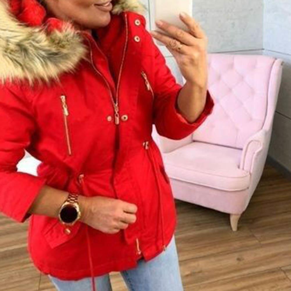 New   Down   Jacket Female Women Winter   Coat   Thickening Jacket Women Outwear Slim Parkas Hoodie Long Fur Collar Warm Parkas пуховик