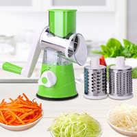 Manuale di Taglio di Verdure Affettatrice Accessori per La Cucina Rotondo Multifunzionale Verdure Affettatrice di Patate Formaggio Gadget da Cucina