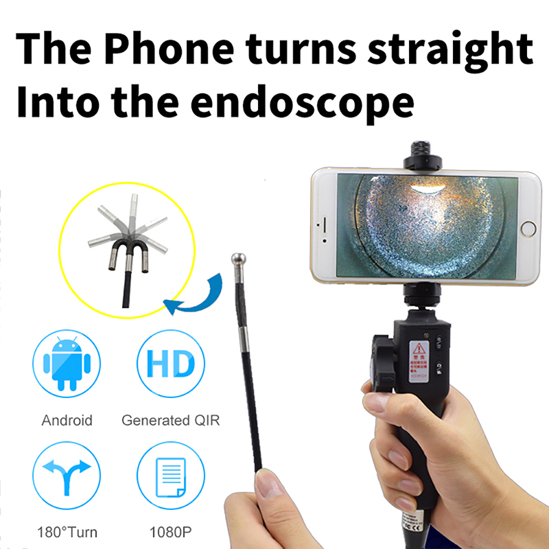 Industrial Video Inspection Camera USB Rigid Borescope Endoscope with 180 Degree Articulating 5 5mm Diameter Probe