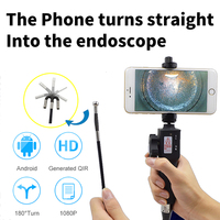 Industrial Video Inspection Camera USB Rigid Borescope Endoscope with 180 Degree Articulating 5.5mm Diameter Probe
