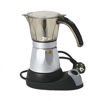 Moka Pot Kitchen Coffee Maker Alloy Kettle Insulation Automatic Electric Heat Warmer Separated Base Mini Home Use For Six People
