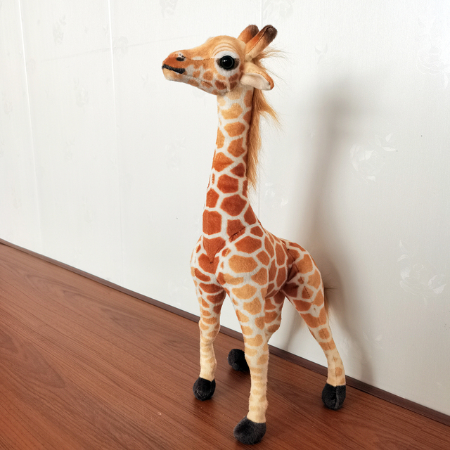 48~125cm Standing Adjustable Giraffe Toy Stuffed Simulated Zoo Animal Plush Doll Jointed Sittable Children Gift 2