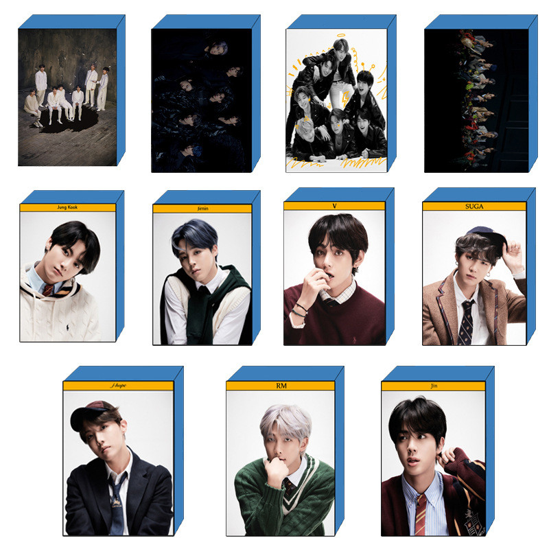 KPOP LOMO Card Bangtan Boys Album MAP OF THE SOUL 7 Collection Photocard Self Made Paper Photo Cards