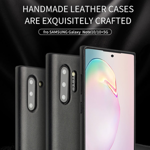 Image 5 - QIALINO Fashion Genuine Leather Case for Samsung Galaxy Note 10 Ultra Thin Handmade Phone Cover for Samsung Galaxy Note 10 Plus