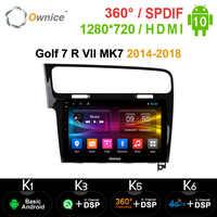 Ownice-Radio con GPS para coche, Radio con Audio Estéreo, DSP, SPDIF, Android 10,1, 8 núcleos, 10,0 pulgadas, Navi, k3, k5, k6, para Volkswagen Golf 7, R, VII, MK7