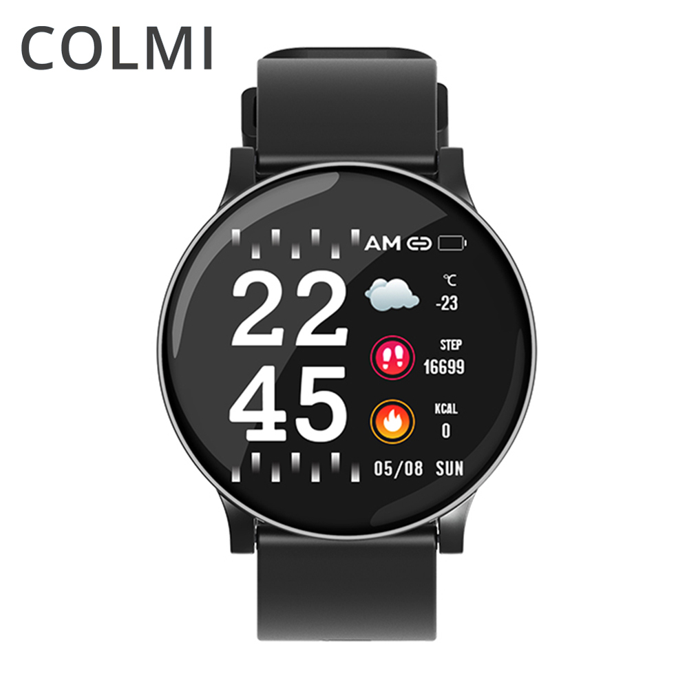 COLMI Smart Watch CW8 Smart Watch Men IP67 Waterproof Multiple Sports Mode Heart Rate Monitoring Weather Forecast Smartwatch velocimetro universal para auto