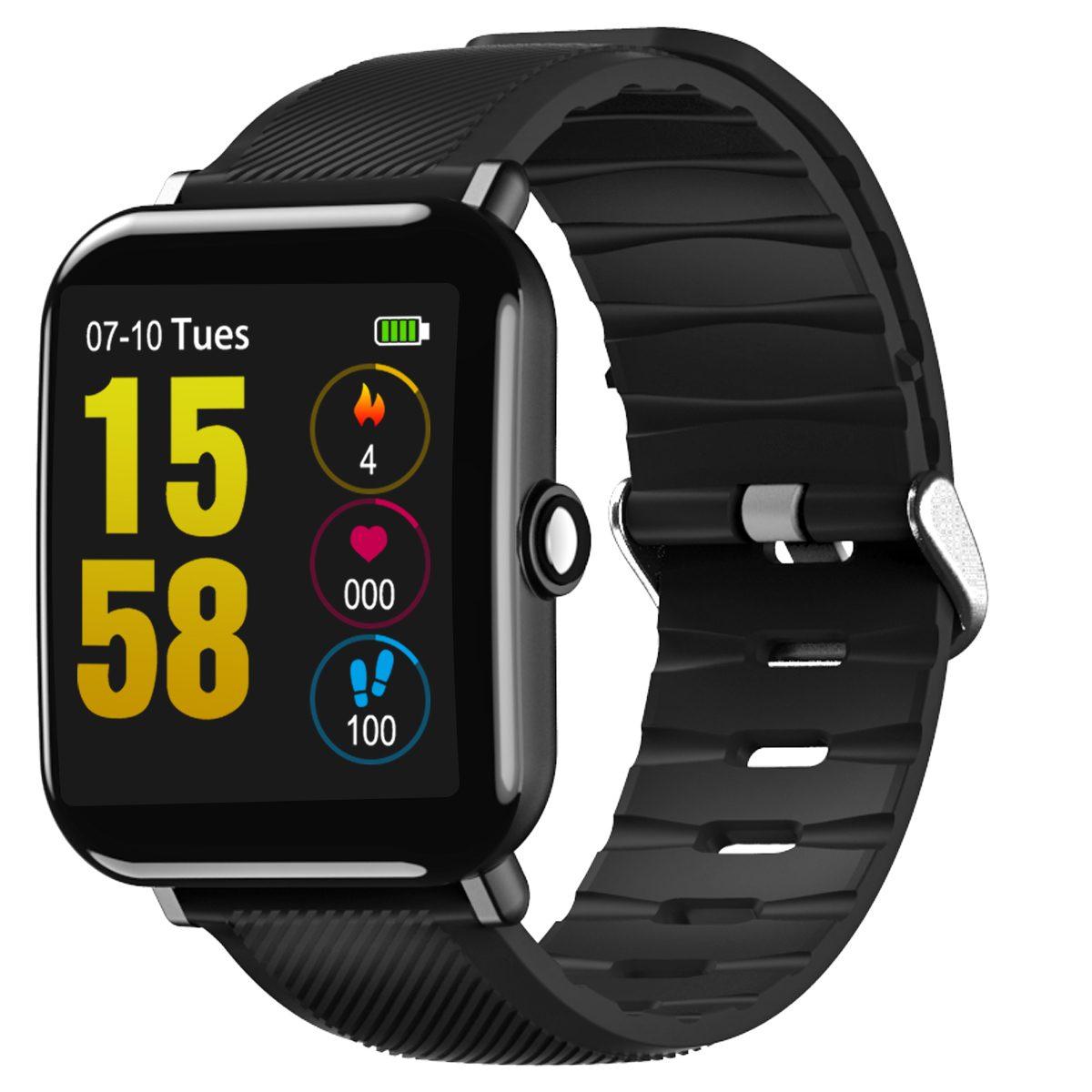 OUKITEL W2 1.3' 2.5D Large Screen Heart Rate Sleep Monitor Smart Watch Sports Mode Message Display 15Days Standby Smart Watch
