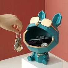 Ornamental Decorative Sculpture Figurines Dog-Storage-Box Gift Resin-Art Cool Big-Mouth