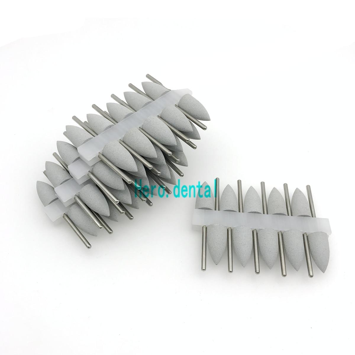50 Pcs Grey Dental SILICONE Rubber Polishers Dental Polishing Burs 2.35mm Shank