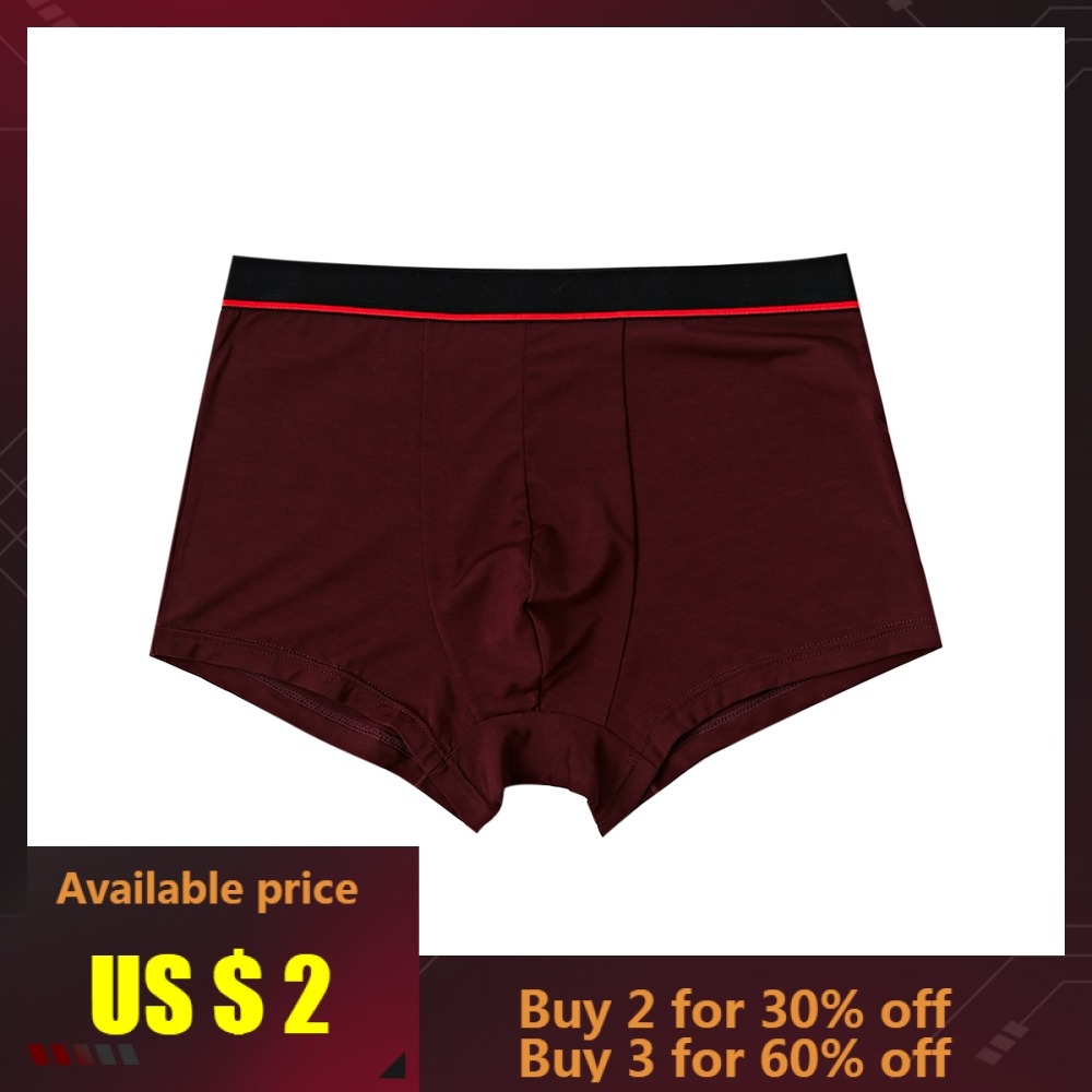 Metersbonwe Boxer Mens Underwear Men Modal Underpants Male Pure Panties Underwear Comfortable Boxer Homewear Solid Color Cuecas
