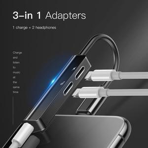 Image 5 - Adaptateur femelle Baseus 3 en 1 mâle à double et 3.5mm pour iPhone L52 chargeur rapide Portable adaptateur Audio pour iPhone