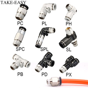 TAKE-EASY Pneumatic Fittings 1/8 1/4 3/8 1/2 Compressor Accessories Air Quick Pipe Connectors Air Hose Fittings Spare Parts