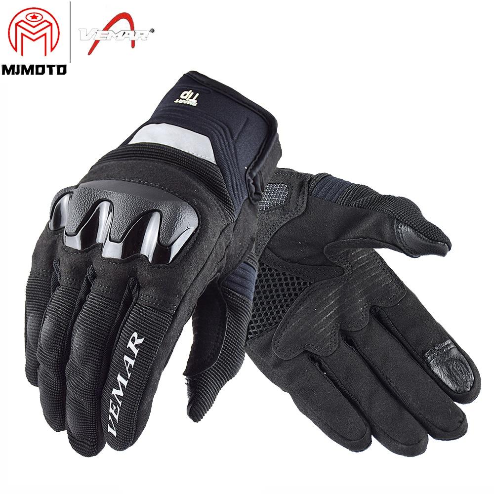 VEMAR écran tactile Moto course gants respirant chute résistance été équitation Moto Moto gants coquille dur pour Komine