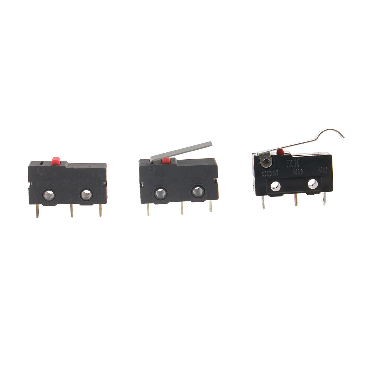 SPDT KW12 Straight Hinge Lever Control Mini Micro Switch KW11-1Z-00 KW11-1Z-0101 Momentary Lever Actuator Miniature Micro Switch