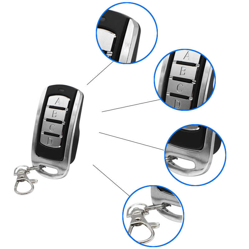 Scimagic 433.92 MHz Automatic Clone Remote Control Transmitter 868MHz 300/310/315/390MHz keychain for Garage Door Gate Barrier