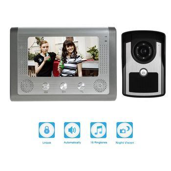 Doorbell Camera Wired Video Intercom System Village door Lock Infrared Night Vision Camera 7 inch screen monitor