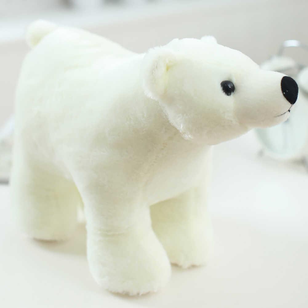リアルなシロクマ動物人形ぬいぐるみソフトスロー枕女の子のおもちゃ子供のための子供の誕生日クリスマスギフト