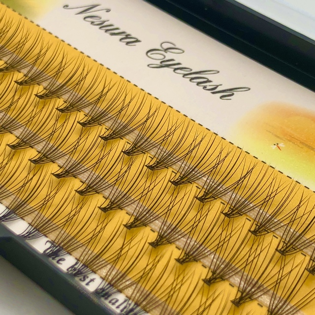 60 pcs Mink Eyelashes Extension Natural 3D Russian  Volume Faux Eyelashes Individual 10D Cluster Lashes Makeup Cilia 1