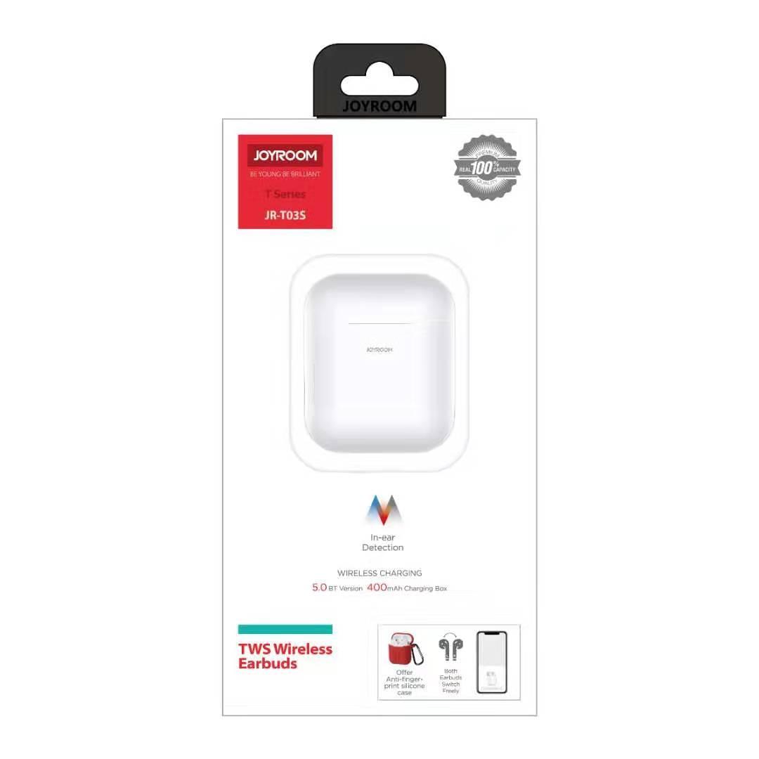 Joyroom T03S 2019 New Light Sensor Version Bluetooth 5.0 In-Ear Detection Pop-Up Window Headset Wireless Charger  TWS Earbuds