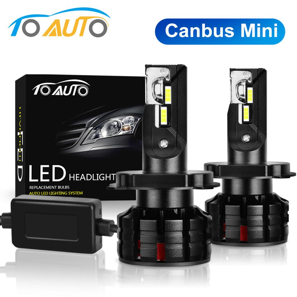 2Pcs H1 H3 H4 <font><b>H7</b></font> Led Canbus H8 H11 HB3 9005 HB4 9006 Led Headlights Mini <font><b>12000LM</b></font> Car Light Bulbs Error Free Auto Lamp 6000K image