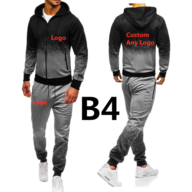 B4 For Men's Print Clothing Set Spring Autumn Outdoor Sport Suits Camouflage Ride Pants Mens Hoodies Jacket Brand Car Hoodies