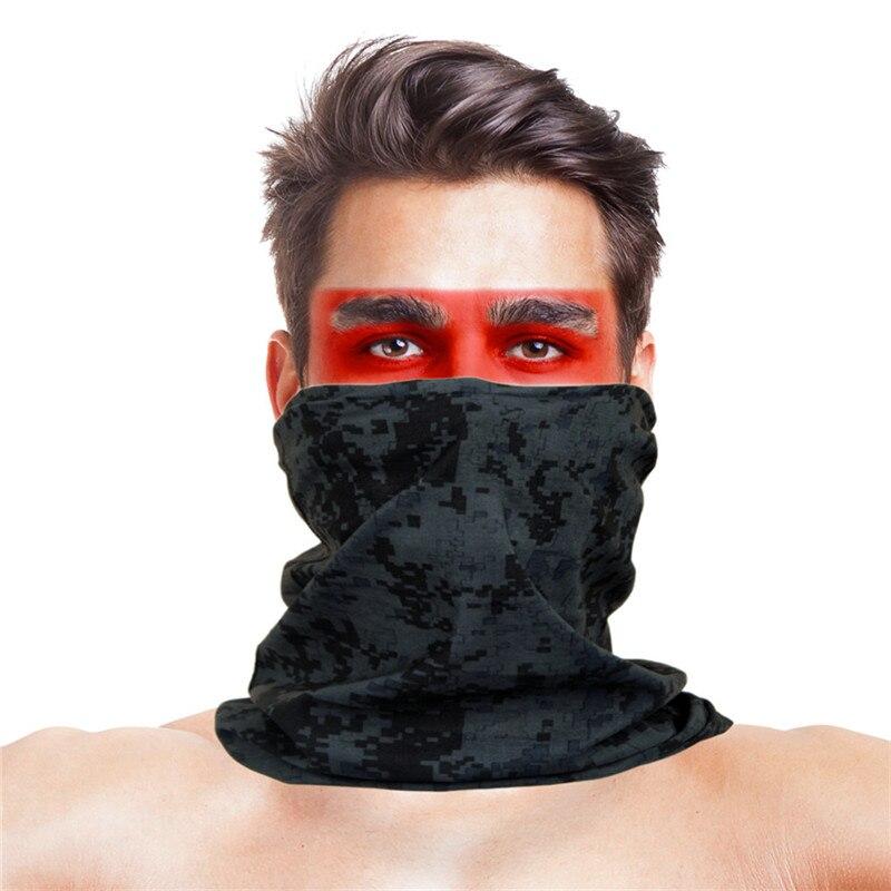 Армейская цифровая рыболовная Бандана с изображением масок для лица из полиэстера ветрозащитная Зимняя Маска для головы и шеи для лица одежда для рыбалки - Цвет: 016