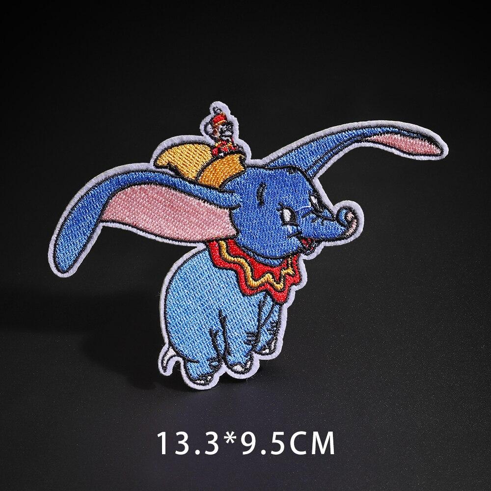 Мультфильм Dumbo нашивки со слонами клеящиеся утюгом украшения Мой сосед Тоторо ткань аппликации 3D Diy милое крыло свободы не лицо значки - Цвет: N3-BT5423