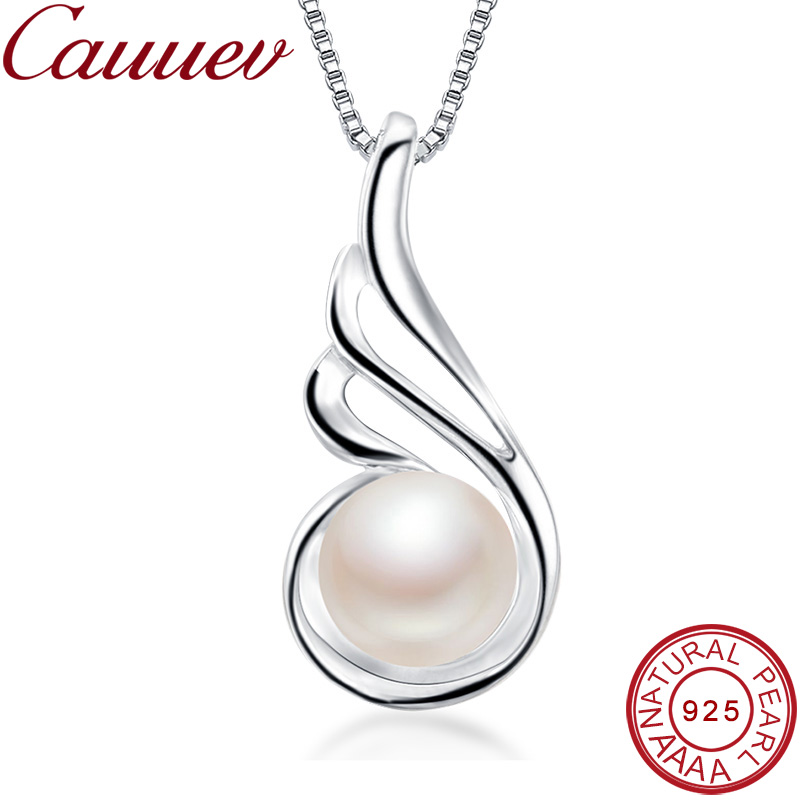 auuev Casual Natural Pearl Jewelry Hot Selling 925 Sterling Silver Zircon Pendant Necklace Party For Women Female fine Jewelry