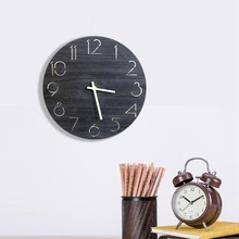 New Vintage Style Design Non-Ticking Silent Antique Wood Clock Large Watch for Home Kitchen Office Cafe Decoration for Wall(China)