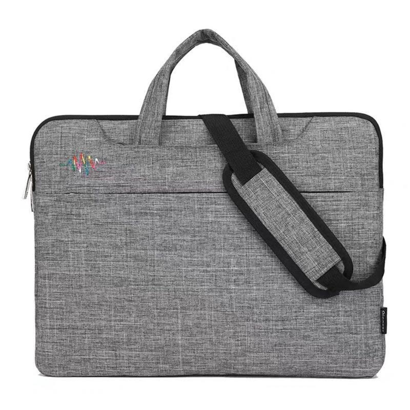 15.6 Inch Large Capacity Zipper Laptop Handbag Waterproof Travel Briefcase Business Large Capacity Zipper Laptop Handbag Daily