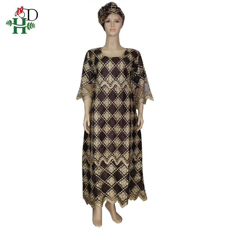 H&D African Dresses For Women 2019 New African Clothes Large Size Dresses With Beads Traditional Style Robe Africaine Longue