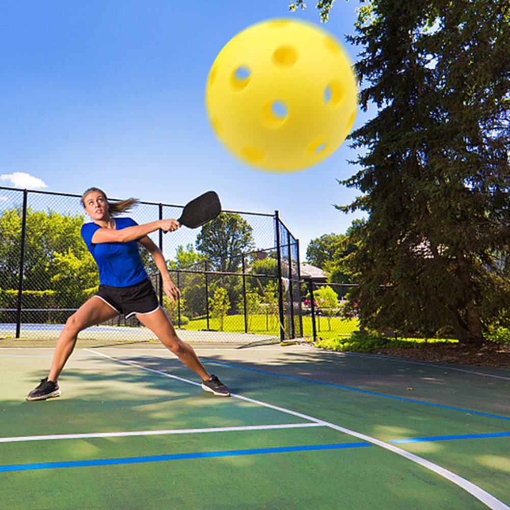 3pcs Practice Training Durable Fun Lightweight Sports Pickleball Set  Out Round Shape Airflow Outdoor Accessories