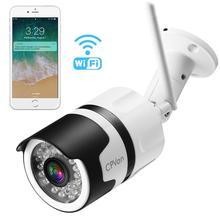 CPVan cámara IP IP6 HD 1080P, cámara tipo bala WiFi con visión nocturna impermeable, detección de movimiento, inalámbrica, vídeo de exterior, vigilancia