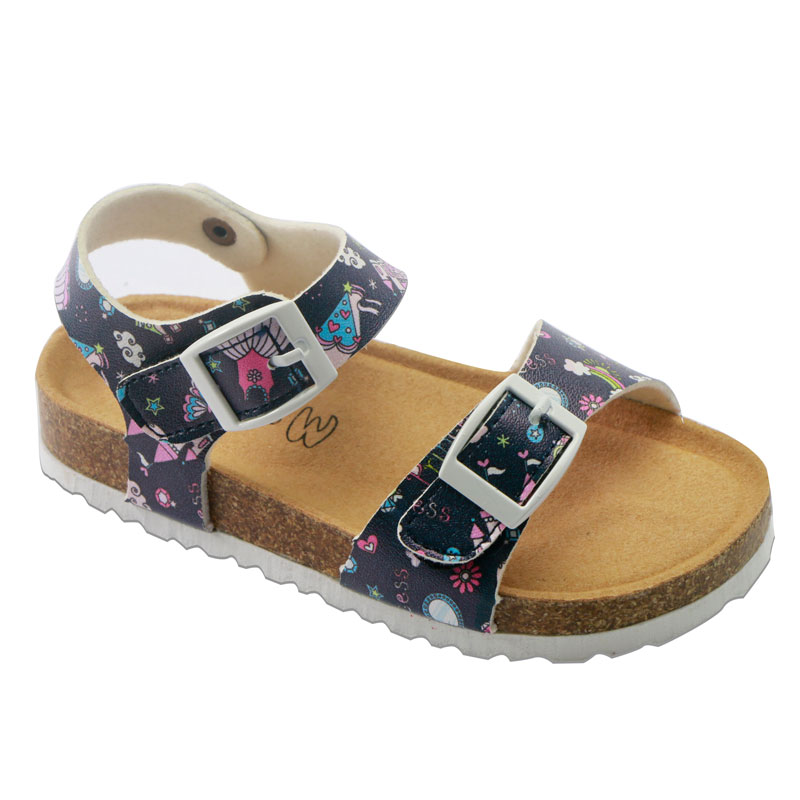 2020 New Fashion Summer Kids Sandals For Girls PU Leather Corks Casual Shoes Children's Sandals School Shoes Soft