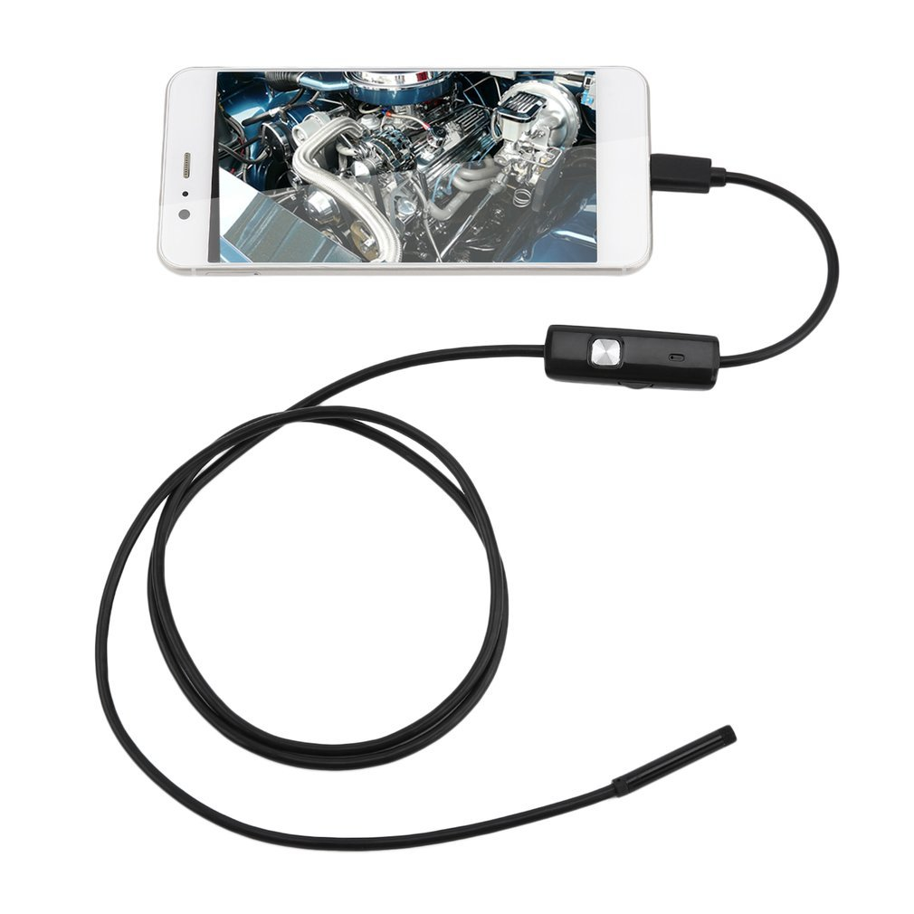 Lens Endoscope Waterproof Inspection Borescope For Android Focus Camera Lens USB Cable Waterproof Endoscope 1M 6 LED 5.5mm LESHP