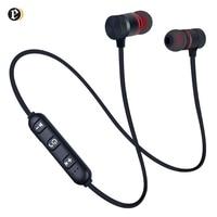 Auriculares deportivos con banda para el cuello, cascos magnéticos con cable y Bluetooth, estéreo, con micrófono para música, para teléfono móvil