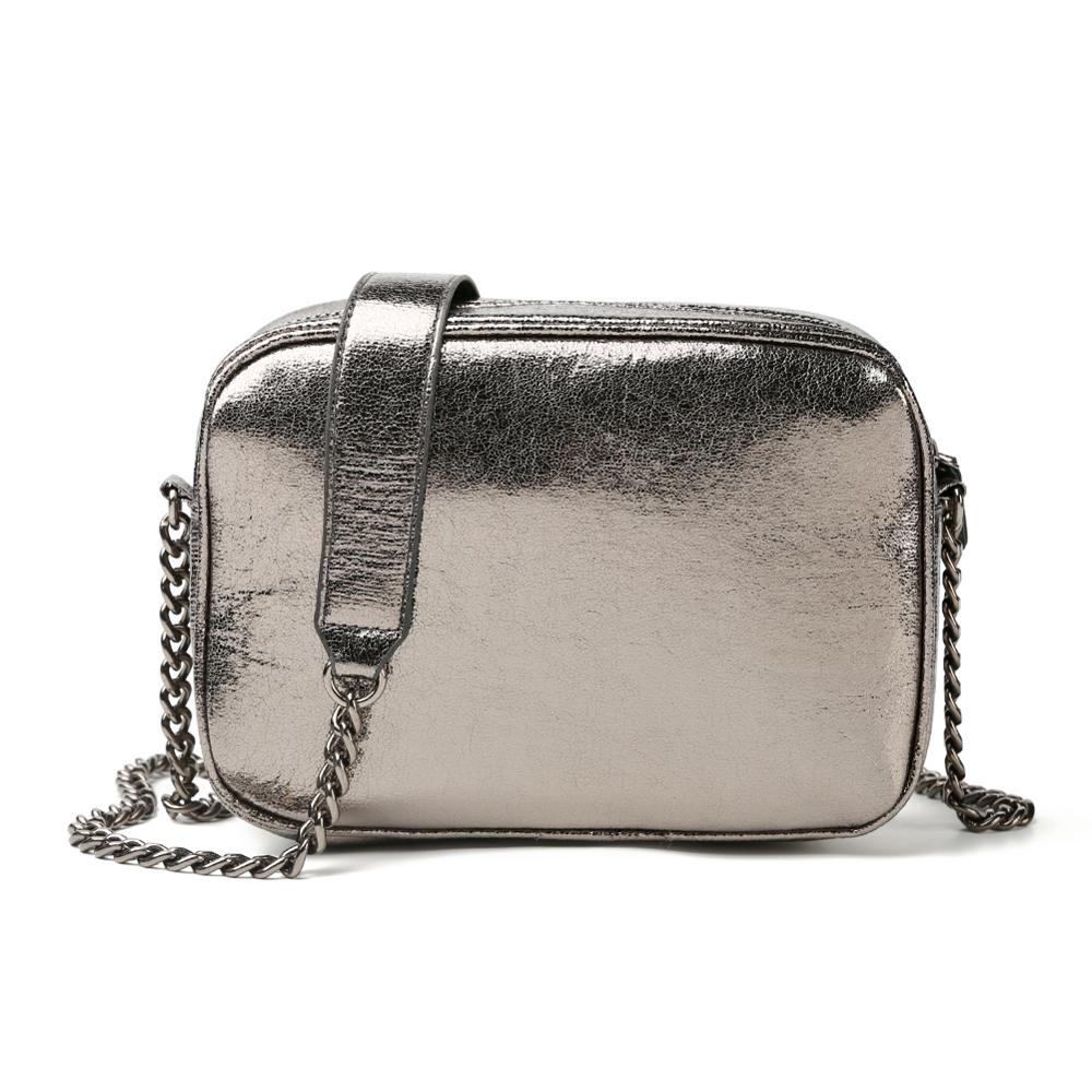 Women Silver Shoulder Messenger Handbags PU Leather Women's Bag Casual Chain Small Square Crossbody Bags Bolsas Feminina Mujer