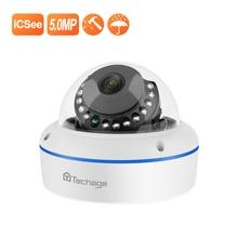 цена на Techage Super HD 5MP 4MP 2MP POE IP Camera  Vandalproof Indoor Dome CCTV Camera Microphone P2P Video Surveillance ONVIF 48V PoE
